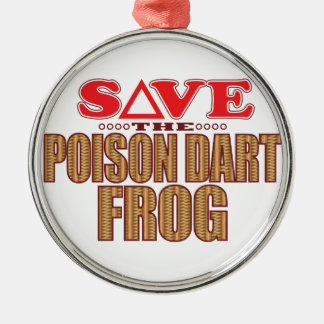 Poison Dart Frog Save Christmas Ornament