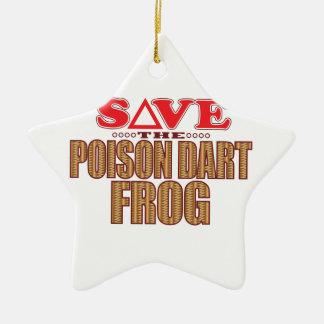 Poison Dart Frog Save Christmas Ornament