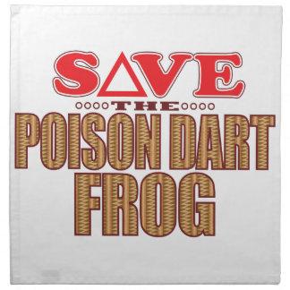 Poison Dart Frog Save Napkin