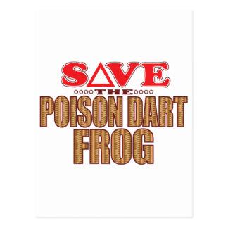 Poison Dart Frog Save Postcard