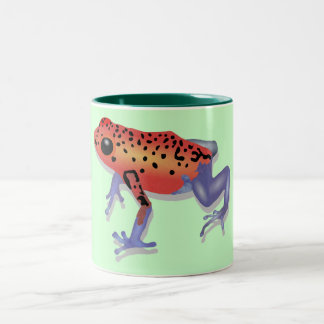 Poison Dart Frog Two-Tone Coffee Mug