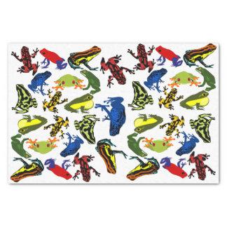 Poison Dart Frogs, kids Amphibian Tree Bullfrog Tissue Paper