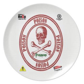 POISON dinner plate