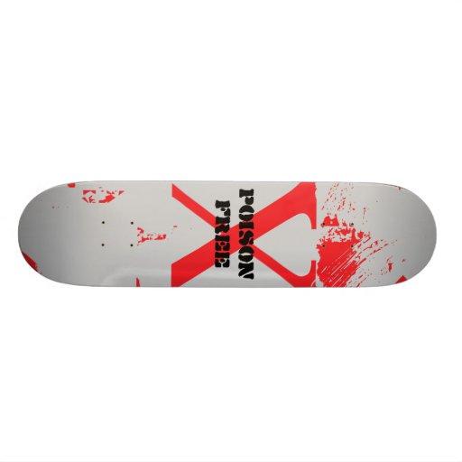 Poison Free Straight Edge Skateboard