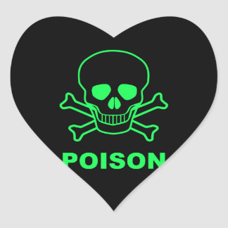 Poison Heart Sticker