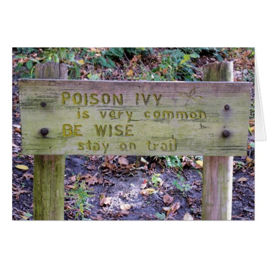 Poison Ivy - Blank Inside Greeting Card