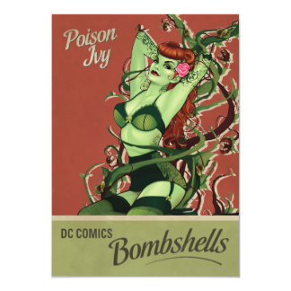 Poison Ivy Bombshell Personalized Invites