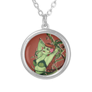 Poison Ivy Bombshell Silver Plated Necklace