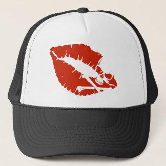 poison lips trucker hat
