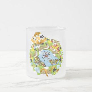 Poison mushroom and sparrow chiyuchiyun chiyun (Po Frosted Glass Mug
