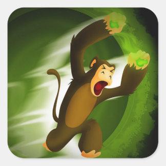 Poison Poo Monkey Square Sticker