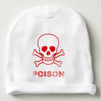 Poison Red Ink Stamp Baby Beanie