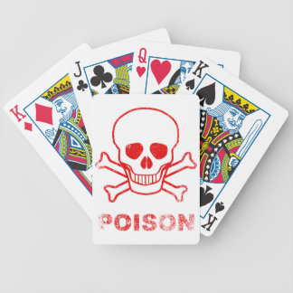 Poison Red Ink Stamp Bicycle Playing Cards