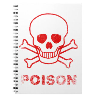 Poison Red Ink Stamp Notebook