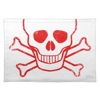 Poison Red Ink Stamp Place Mats