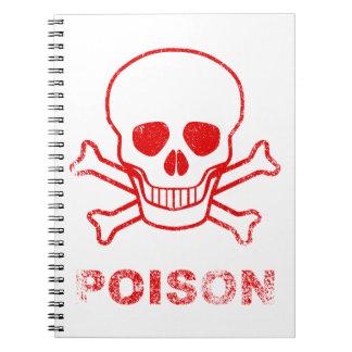 Poison Red Ink Stamp Spiral Notebook