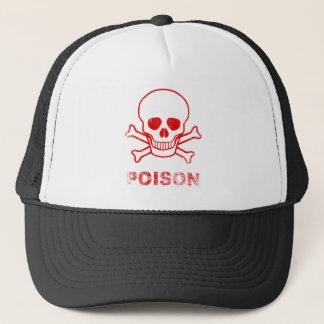 Poison Red Ink Stamp Trucker Hat