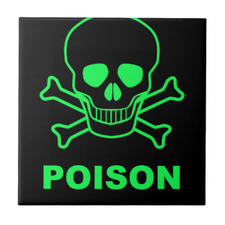 Poison Small Square Tile