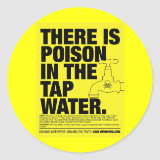 poison tap water classic round sticker