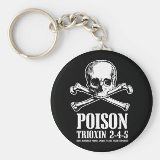 Poison Zombie Trioxin 3-4-5 Dawn of the Dead Basic Round Button Key Ring