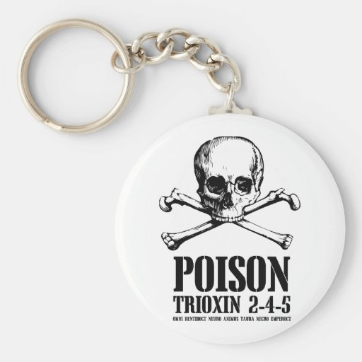 Poison Zombie Trioxin 3-4-5 Dawn of the Dead Key Chain