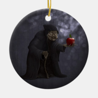 Poisoned apple christmas ornament