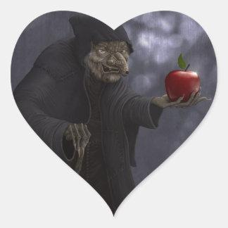 Poisoned apple heart sticker