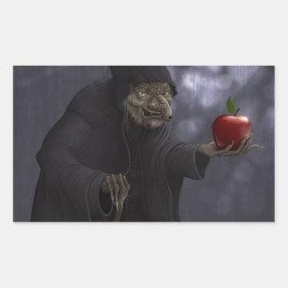 Poisoned apple rectangular sticker