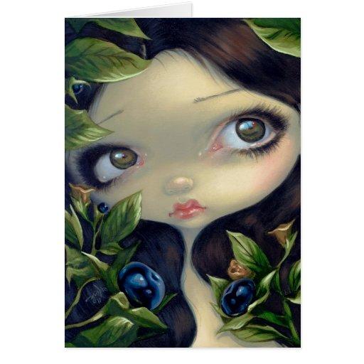 """Poisonous Beauties I: Belladonna"" Greeting Card"