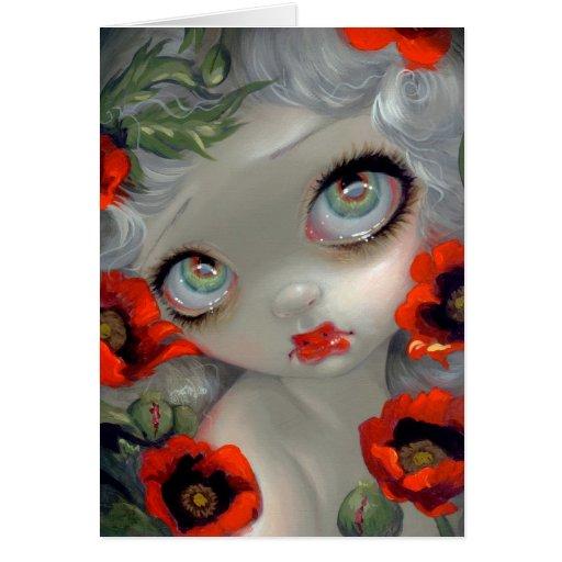 """Poisonous Beauties III Opium Poppy"" Greeting Card"