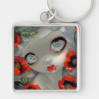 """Poisonous Beauties III: Opium Poppy"" Keychain"