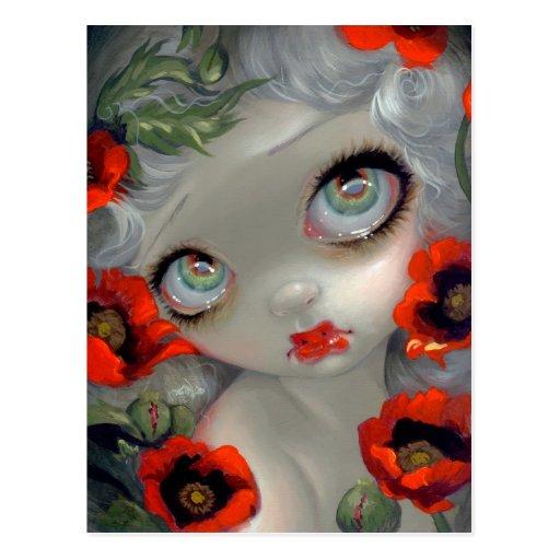 """Poisonous Beauties III: Opium Poppy"" Postcard"