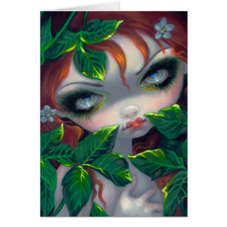 """Poisonous Beauties IV: Poison Ivy"" Greeting Card"