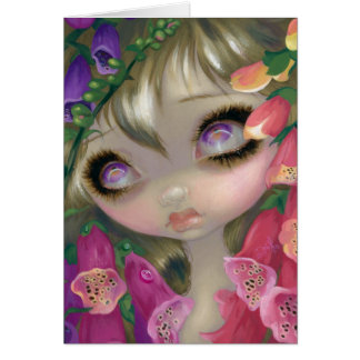 """Poisonous Beauties IX:  Foxgloves"" Greeting Card"