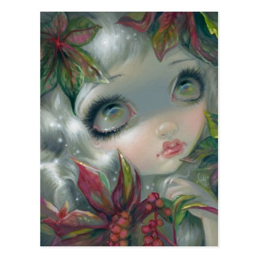 """Poisonous Beauties VIII: Castor Bean"" Postcard"