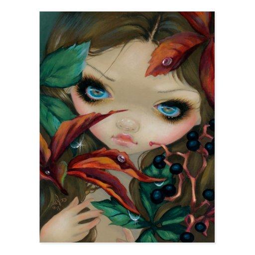 """Poisonous Beauties X: Virginia Creeper"" Postcard"