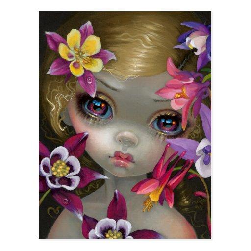 """Poisonous Beauties XIII: Columbine"" Postcard"