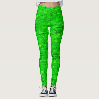 poisonous bright green leggings