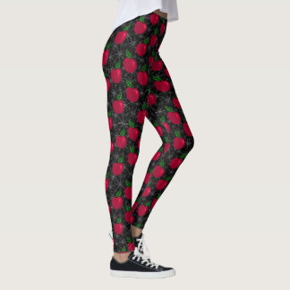 Poisonus Apples and spider webs Leggings
