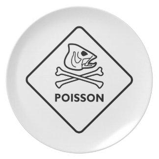 Poisson Dinner Plate