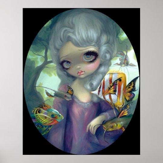Poissons Volants Le Portrait ART PRINT rococo fish