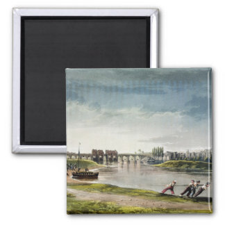 Poissy, from 'Views on the Seine', engraved by Tho Square Magnet