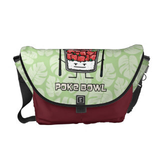 Poke bowl Hawaii raw fish salad chopsticks aku Courier Bags