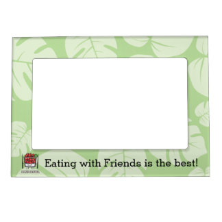 Poke bowl Hawaii raw fish salad chopsticks aku Magnetic Picture Frame