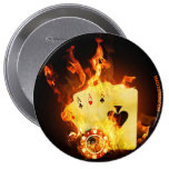 Poker 10 Cm Round Badge