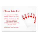 Poker 11 Cm X 16 Cm Invitation Card