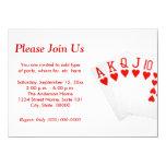 Poker 11 Cm X 16 Cm Invitation Card