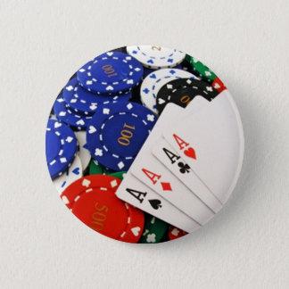 Poker 6 Cm Round Badge