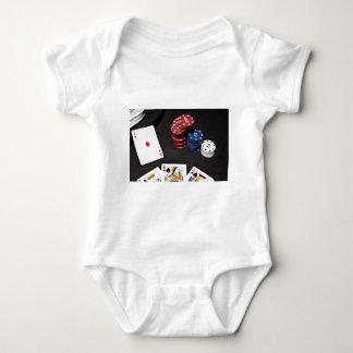 Poker ace bet good hand baby bodysuit