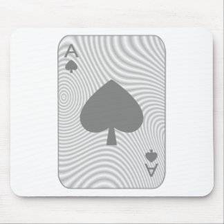 Poker Ace of Spades Mouse Pad